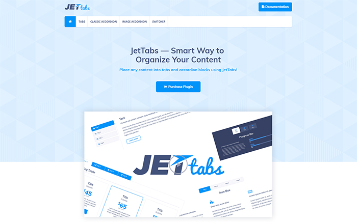 JetTabs Elementor Page Builder WordPress Plugin