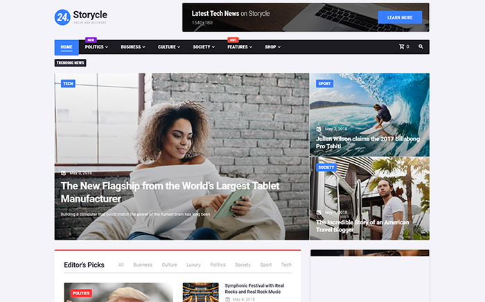Storycle Elementor WordPress Theme