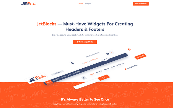 JetBlocks Elementor Header & Footer Widgets WordPress Plugin