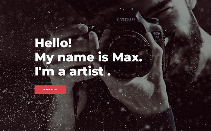 Shootex Photographer Portfolio Jet Elementor Template