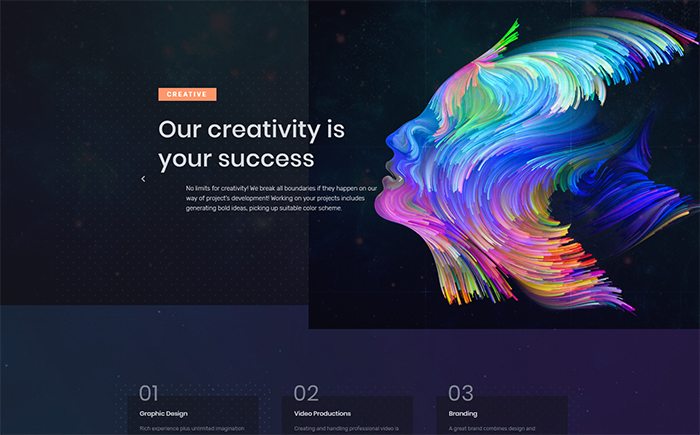Graffis WordPress Design Elementor Template