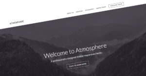 Atmosphere Pro WordPress theme for business