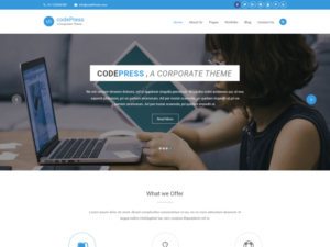 Corpora WordPress business theme