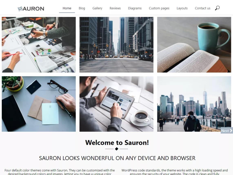 sauron wordpress portfolio theme