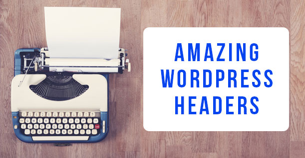 create wordpress header for blog