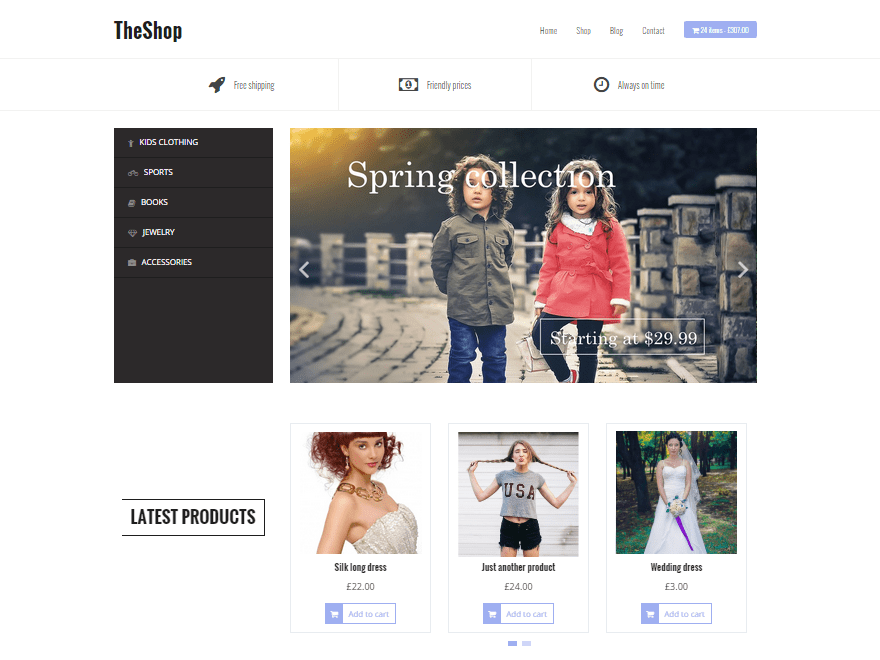 TheShop woocommerce wordpress theme