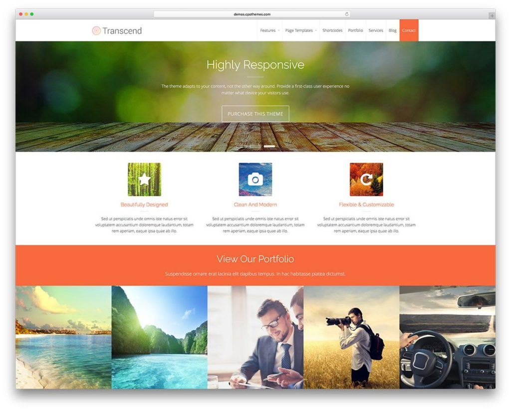 Transcend Woocommerce WordPress theme