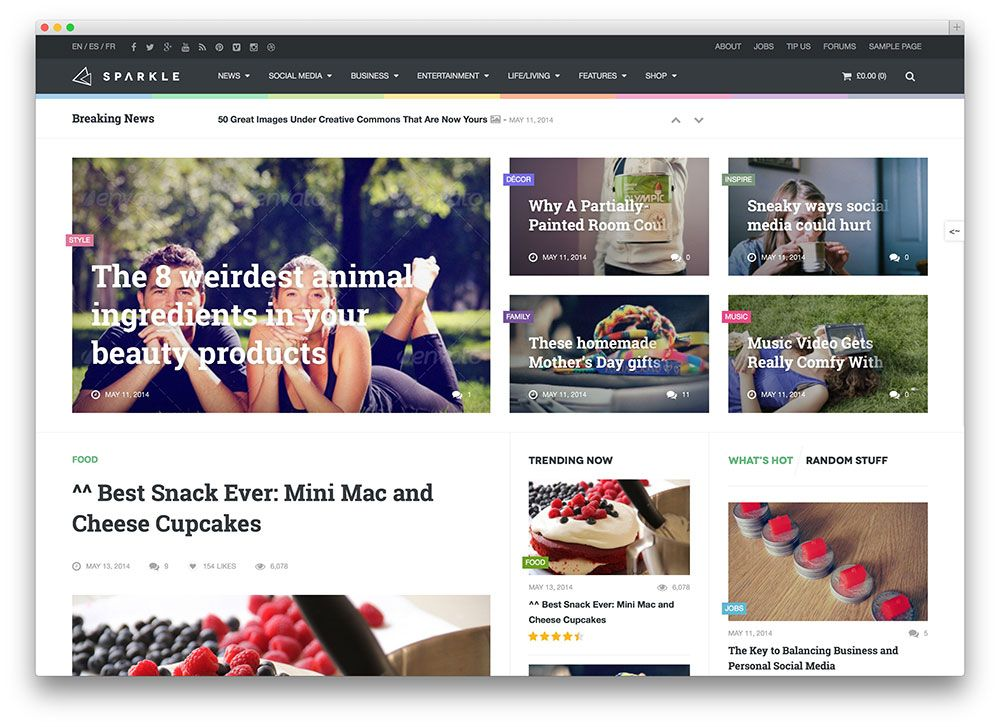 sparkling woocommerce wordpress theme