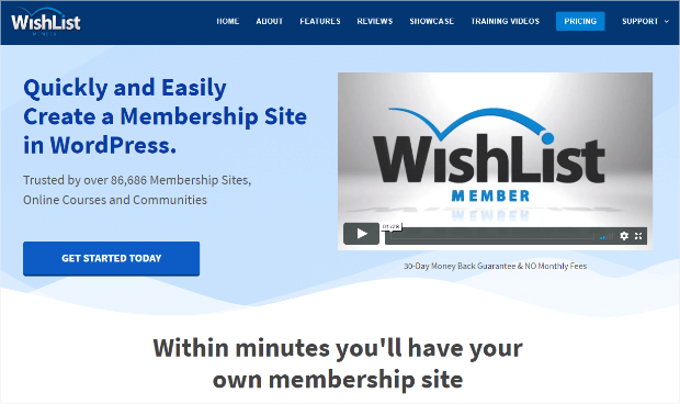 wishlist member plugin for WordPress