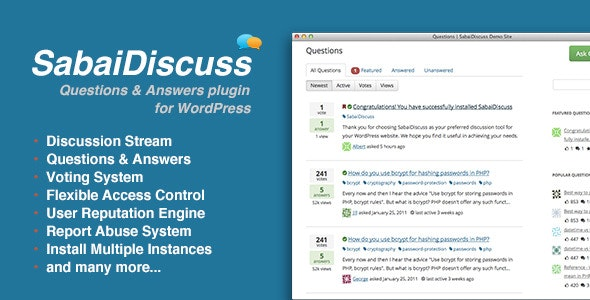 Sabai Discuss plugin for WordPress