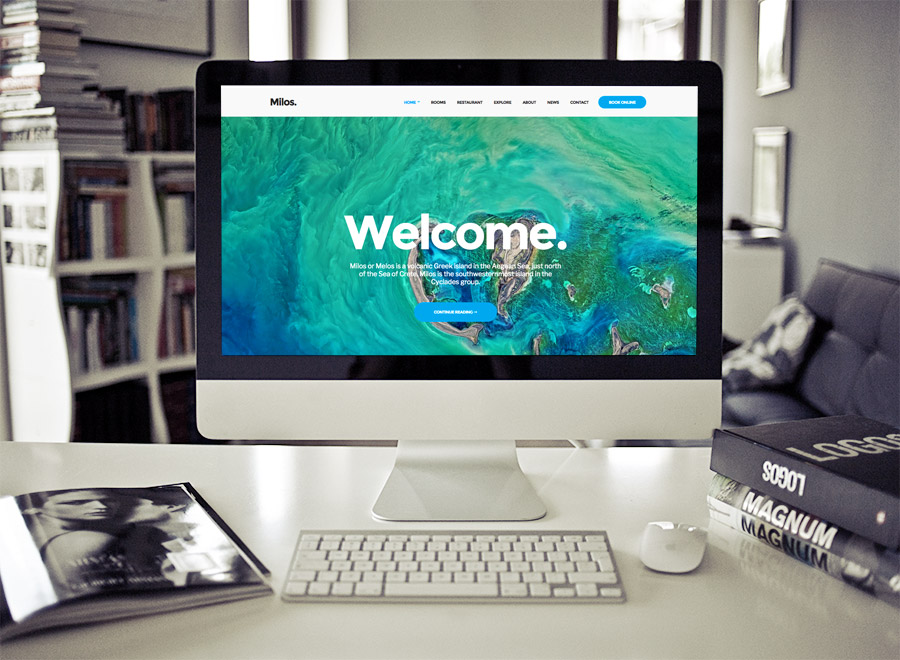 Milos theme for WordPress