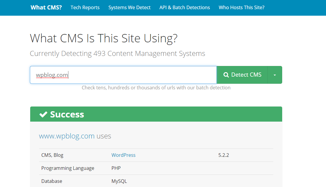 What CMS Best CMS Detector