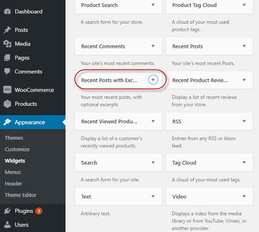 WordPress recent posts widget activate plugin