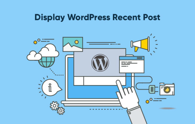 display WordPress recent post widget