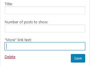 WordPress recent posts widget