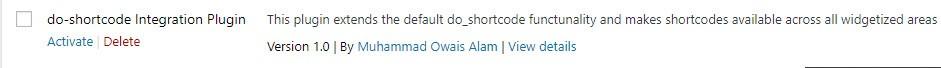 do_shortcode Integration plugin