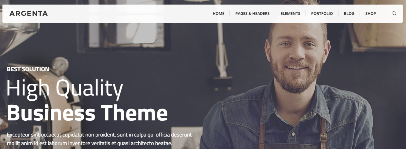 Argenta WordPress theme