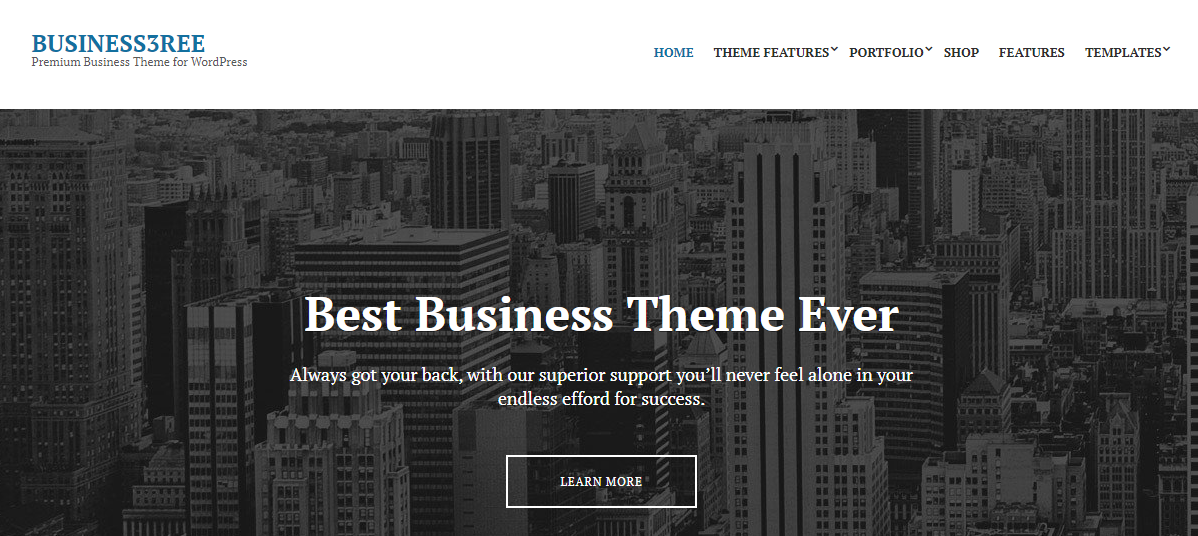 Business3ree business wordpress theme