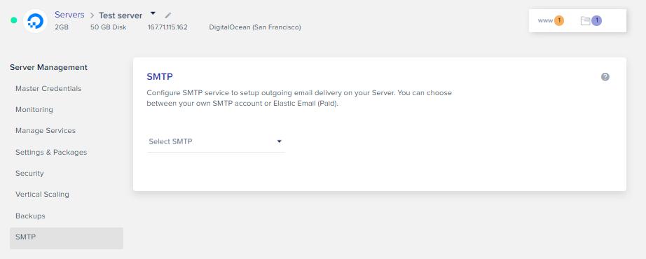 SMTP service