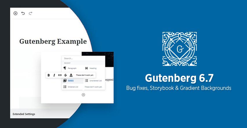 Gutenberg 6.7