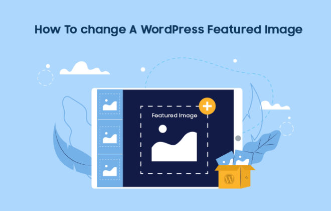 change wordpress featured image