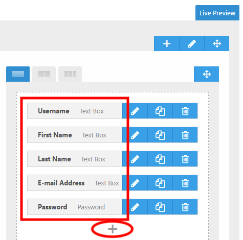 Fields Manager section in Ultimate Member Plugin