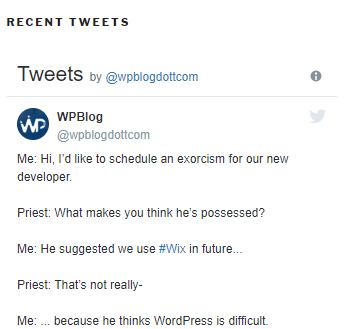 wpblog recent tweets