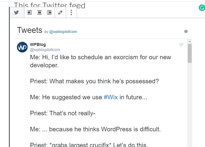 tweets by wpblog
