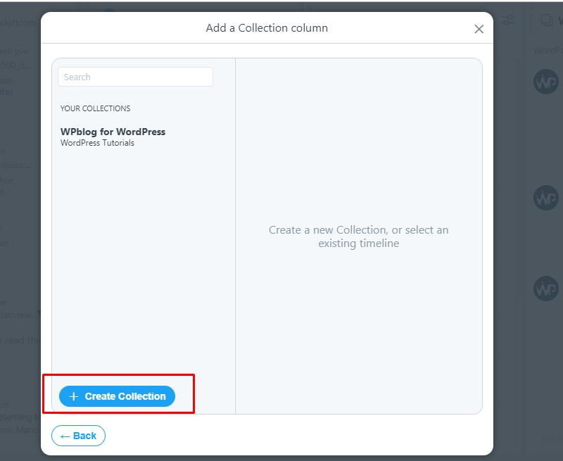 tweet deck create collection