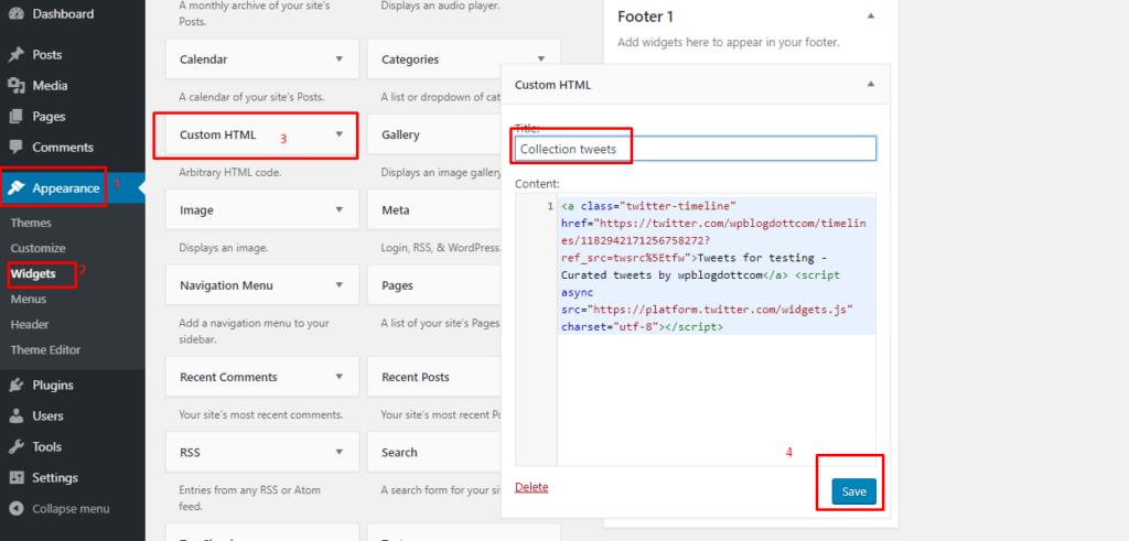 tweet deck code for wordpress widget