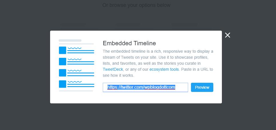 twitter embedded timeline