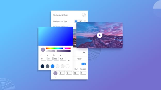 Classic & Gradient Background Color Qubely Feature