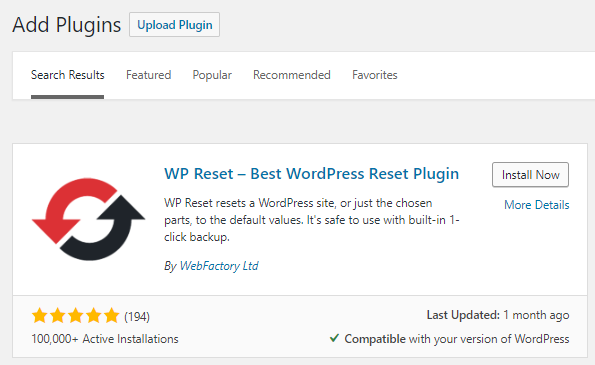wp reset best wordpress reset plugin