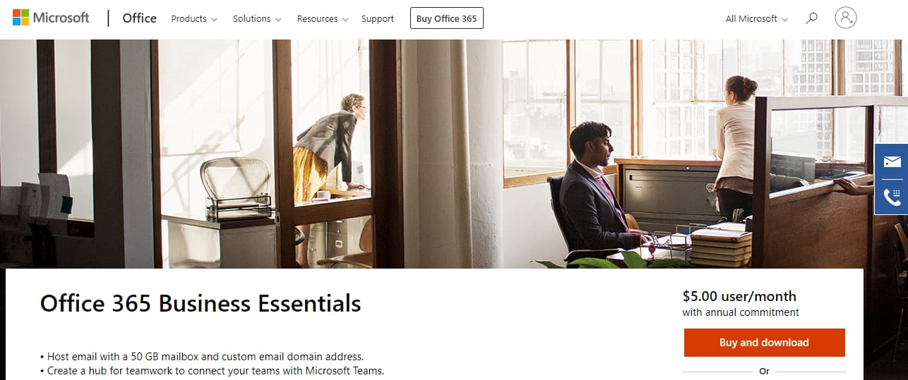 Office 365 Business email hosting provider