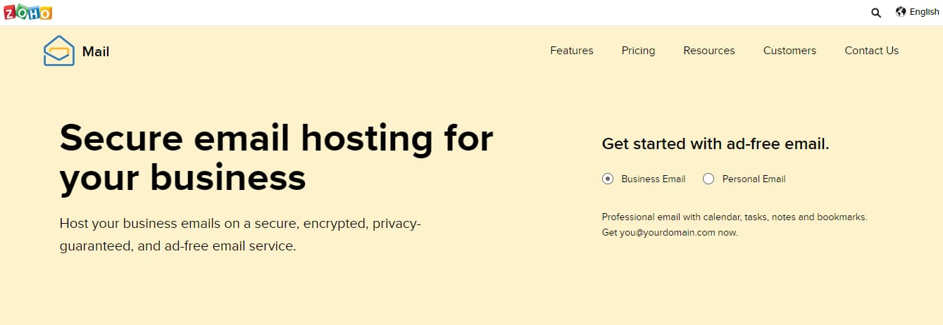 Zoho Mail email hosting provider