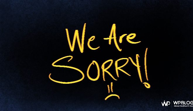 WPblog Apology