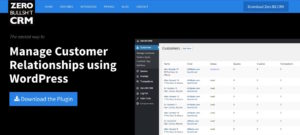 Zero BS CRM WordPress plugin