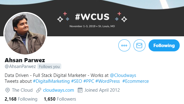ahsan-parwez WordPress Superheroes To Follow in 2020 [With Exclusive Tips From Some Influencers] WPDev News  Interviews|influencers 2020|WordPress|wordpress influencers