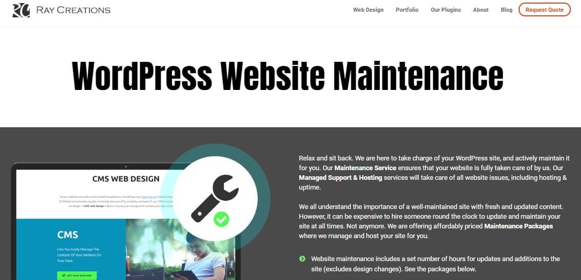 wordpress website maintenance