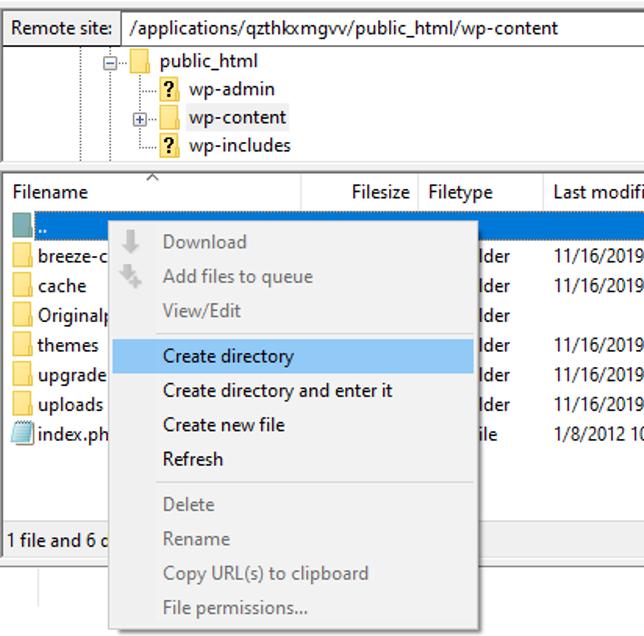 Create plugins directory