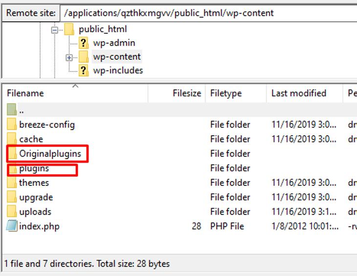 2 plugin folders