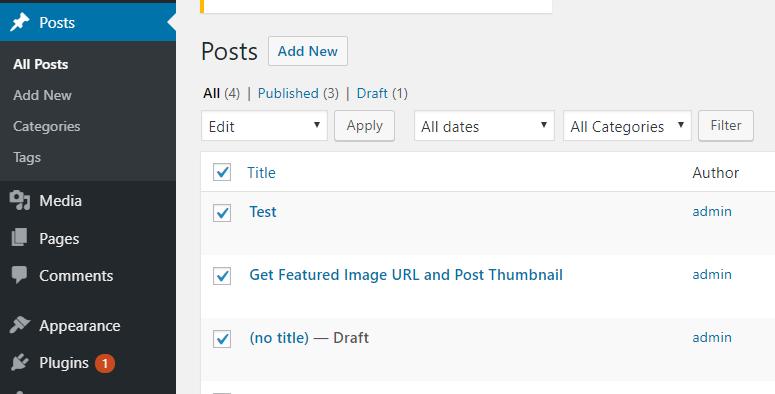 WordPress Post Section