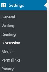WordPress admin section