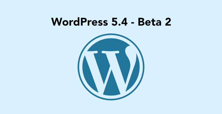 WordPress 5.4 Beta 2